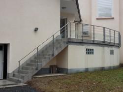 Terrasse avec garde-corps